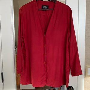 Eileen Fisher Silk Button-up Tunic